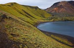 Crater lake in Landmannalaugar, Iceland Stock Image