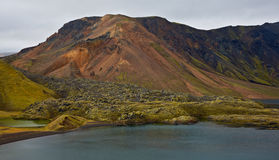 Crater lake in Landmannalaugar, Iceland Royalty Free Stock Photo