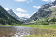 Crater Lake in Maroon Bells Snowmass Wilderness in Aspen Colorado Royalty Free Stock Photo