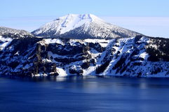 Crater Lake and Mount Scott Stock Image