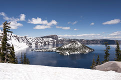 Crater lake Stock Image