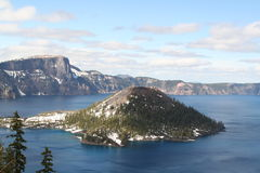 Crater lake national park royalty free stock photo