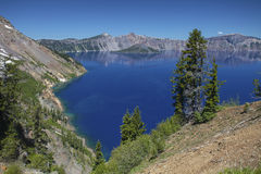 Crater Lake. In  National Park Royalty Free Stock Photo