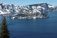 Crater Lake national park, Oregon. Royalty Free Stock Photos