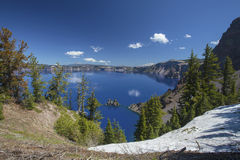Crater Lake. In  National Park in Oregon Stock Image