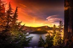Crater Lake National Park Oregon Royalty Free Stock Photo