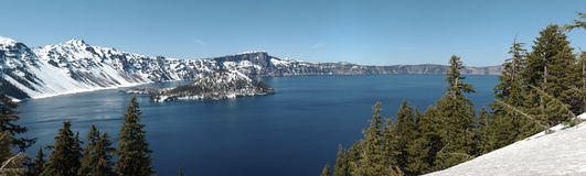 Crater Lake national park panorama, Oregon. Stock Photos