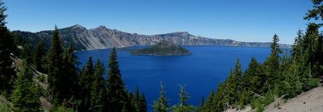 Crater Lake National Park Panoramic USA royalty free stock image