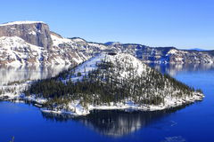 Crater Lake National Park in Winter Royalty Free Stock Images