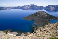 Crater Lake National Park Wizard Island West Rim Caldera Stock Photo