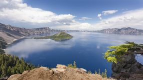 Crater Lake in Spring Royalty Free Stock Images