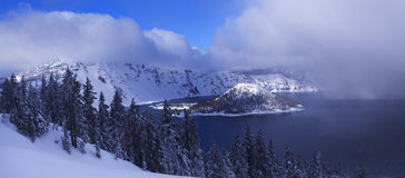 Crater Lake NP in Winter Royalty Free Stock Images