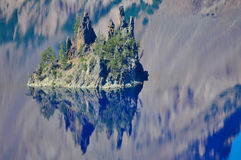 Crater Lake, Oregon. Crater Lake Oregon reflections on a beautiful day Royalty Free Stock Images