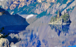 Crater Lake, Oregon. Crater Lake Oregon reflections on a perfect sunny day Stock Images