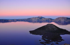 Crater Lake, Oregon. Crater Lake national park at sunset Stock Images