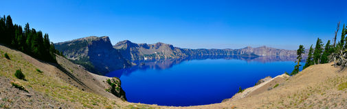 Crater Lake, Oregon. Crater Lake Oregon on a beautiful sunny day Stock Photography