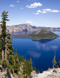 Vertical Blue Water Landscape Crater Lake Oregon Royalty Free Stock Photography