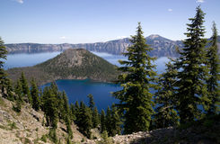 Crater Lake National Park Oregon Wizard Island  Stock Photo
