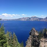 Crater Lake in Oregon Stock Photography
