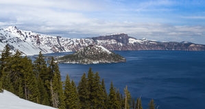 Crater lake Oregon Stock Photography