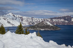 Crater lake Oregon Royalty Free Stock Image