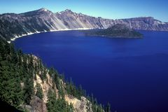 Crater Lake Overlook Stock Image