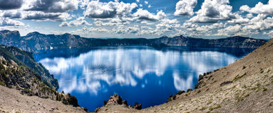 Crater Lake Panorama Stock Image