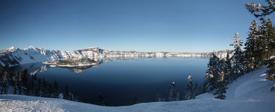 Crater Lake panoramic Royalty Free Stock Photos