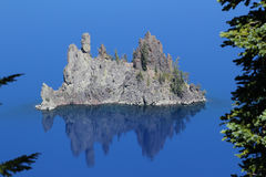 Crater Lake Phantom Ship Royalty Free Stock Photography
