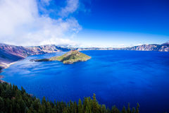 Crater Lake. The pristine blue of Crater Lake Royalty Free Stock Image