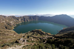 Crater Lake Quilotoa Volcano Royalty Free Stock Image