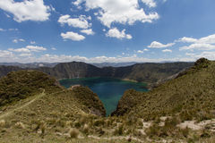 Crater Lake Quilotoa Volcano Stock Photos