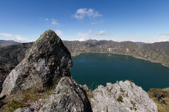 Crater Lake Quilotoa Volcano Stock Images