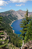 Crater Lake Rim. A view of Crater Lake rim in the summer Royalty Free Stock Photo