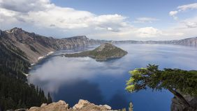 Crater Lake in Spring Stock Photo