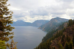 Crater lake in summer Stock Photos