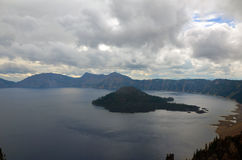 Crater lake in summer Royalty Free Stock Photography