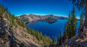Crater lake and surrounding areas Stock Image