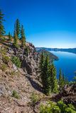 Crater lake and surrounding areas Royalty Free Stock Photography