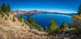 Crater lake and surrounding areas Royalty Free Stock Photo