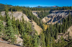 Crater lake and surrounding areas Stock Photography