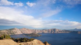 Crater lake timelapse stock video footage