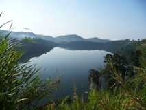 Crater lake Uganda. Volcanic crater lake in Uganda Stock Photo