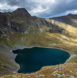 Crater lake in the upper reaches of the river Left Urup. Stock Image