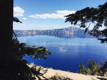 Crater Lake. View of Crater Lake National Park stock photo