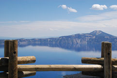 Crater Lake View from Observation Deck Stock Photos