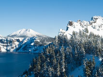 Crater Lake in winter Royalty Free Stock Photo