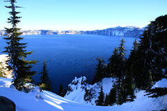 Crater Lake Winter Stock Photo