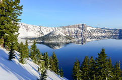 Crater Lake in winter Stock Photography