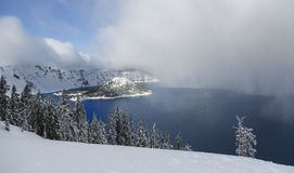 Crater Lake in Winter Royalty Free Stock Photography